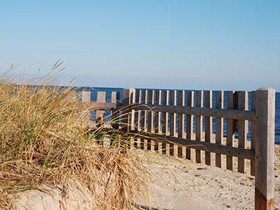 Beach Fence on New Seabury Beach